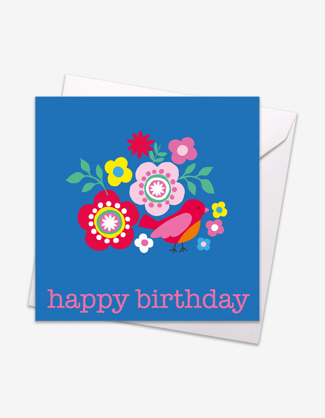 Multi Bird Birthday Card