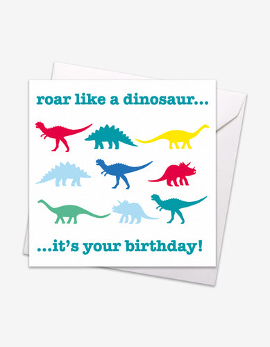 Multi Dino Birthday Card