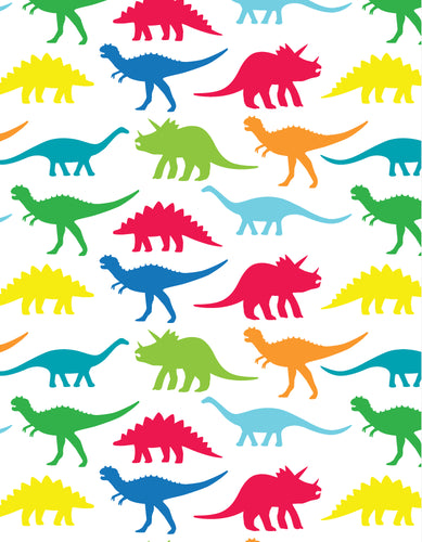 Multi Dino Wrapping Paper