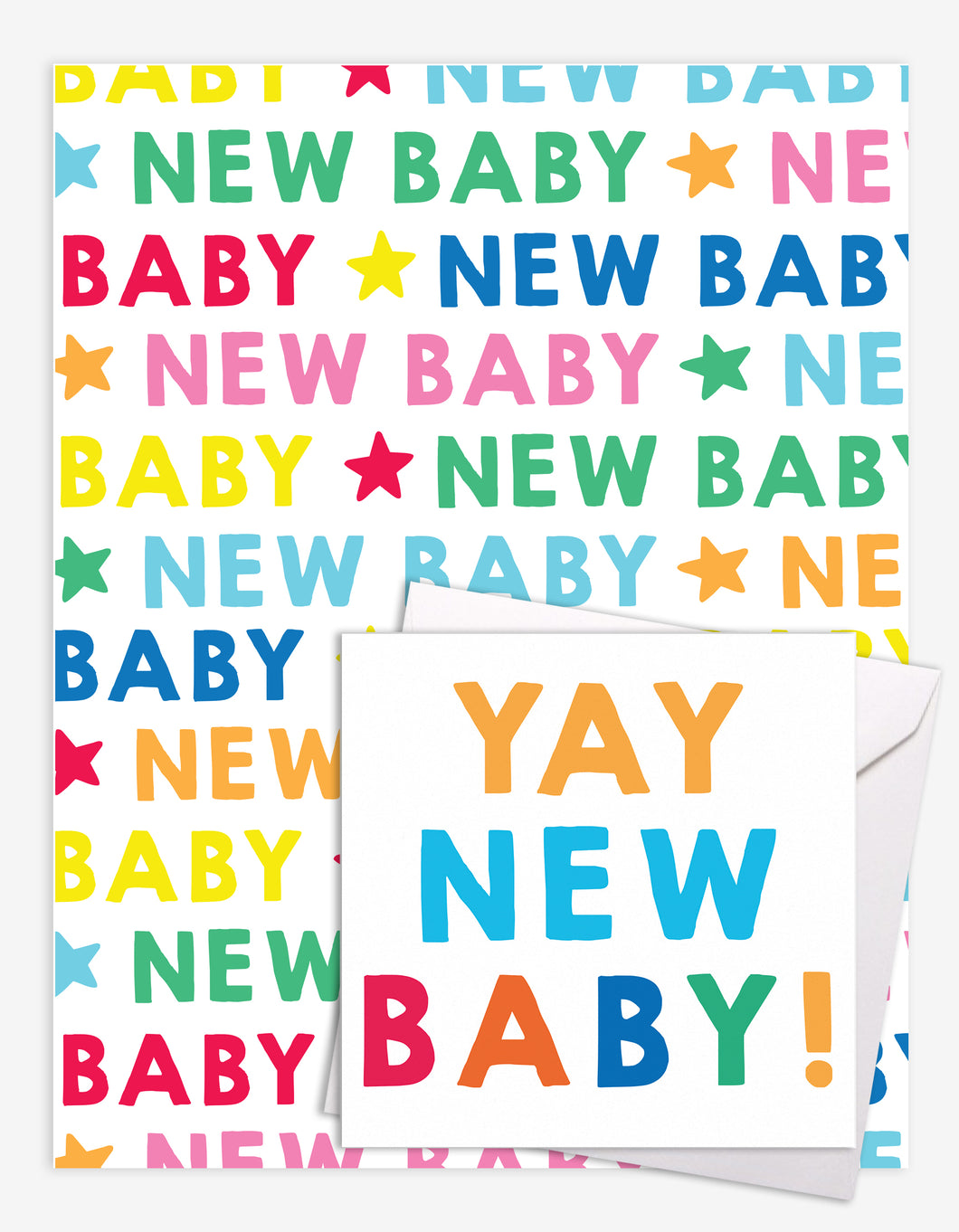 New Baby Gift Wrap + Personalised Card