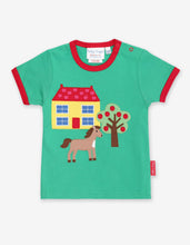 Load image into Gallery viewer, Organic Animal Farm Applique T-Shirt