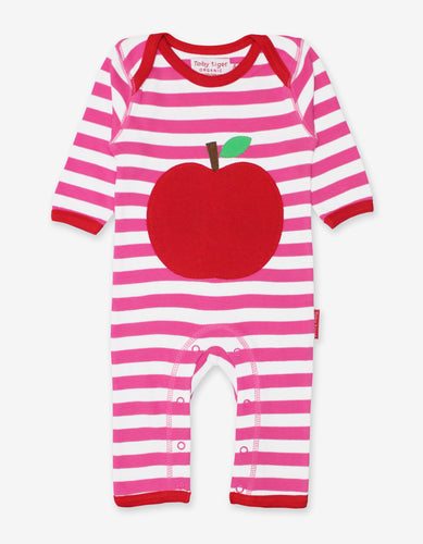 Organic Apple Applique Sleepsuit