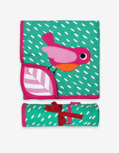 Organic Bird Applique Blanket