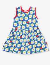 Load image into Gallery viewer, Organic Blue Daisy Print Summer Dress