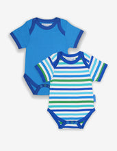 Load image into Gallery viewer, Organic Blue Multi Stripe 2-Pack Body