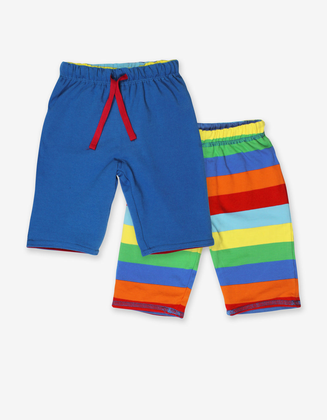 Organic Blue Multi Stripe Reversible Trousers