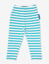 Load image into Gallery viewer, Organic Blue Stripe Leggings 2-Pack