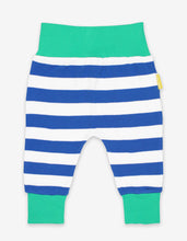 Load image into Gallery viewer, Organic Blue Stripe Yoga Pants