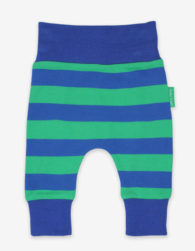 Organic Blue/Green Stripe Yoga Pants