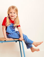 Load image into Gallery viewer, Organic Breton Stripe Dungarees
