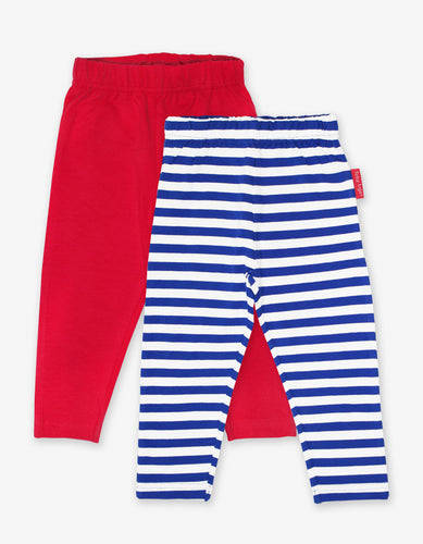 Organic Breton Stripe Leggings 2-Pack