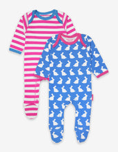 Load image into Gallery viewer, Organic Bunny 2-Pack Babygrow