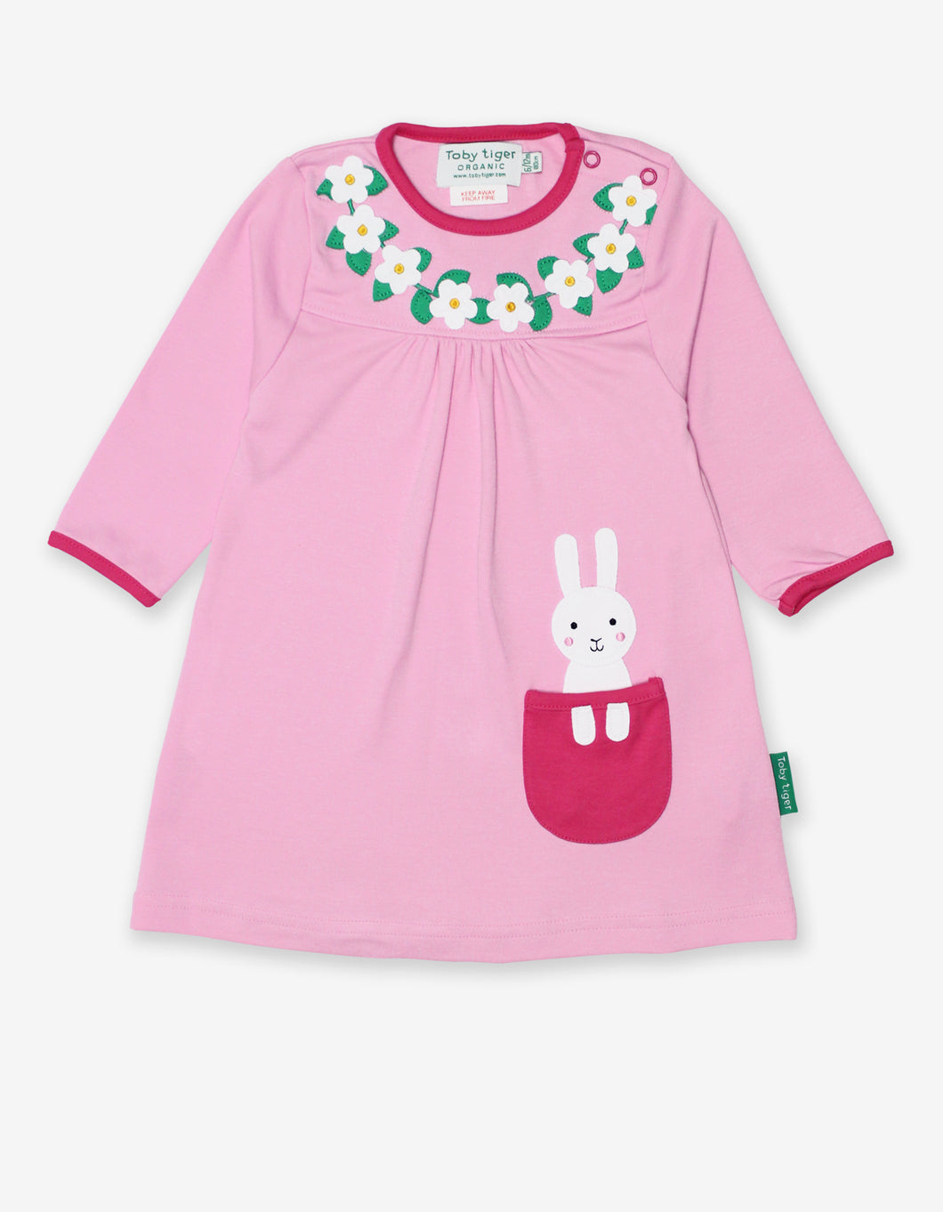 Organic Bunny Applique Dress