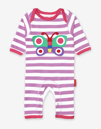 Organic Butterfly Applique Sleepsuit