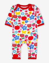 Load image into Gallery viewer, Organic Butterfly Flower Print Sleepsuit