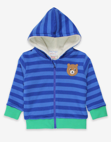 Organic Camping Bear Applique Hoodie