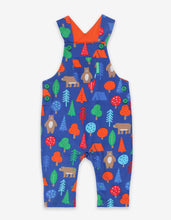 Load image into Gallery viewer, Organic Camping Bear Print Dungarees
