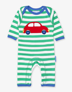 Organic Car Applique Sleepsuit