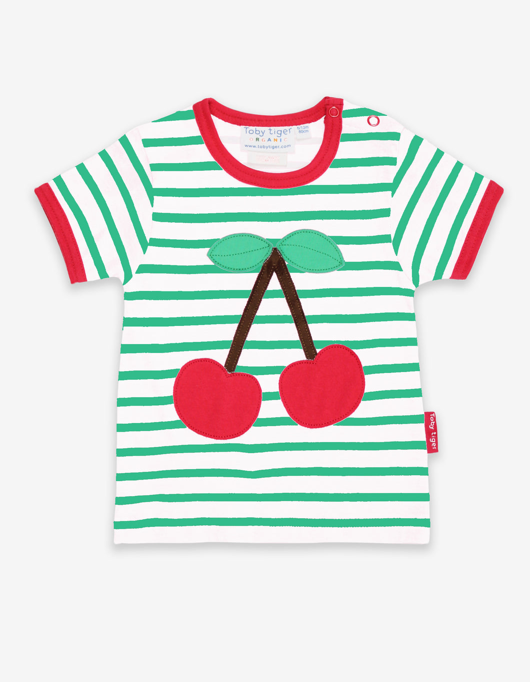 Organic Cherry Applique T-Shirt