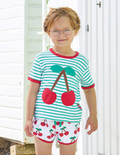 Load image into Gallery viewer, Organic Cherry Applique T-Shirt