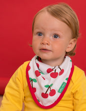 Load image into Gallery viewer, Organic Cherry Print Dribble Bib