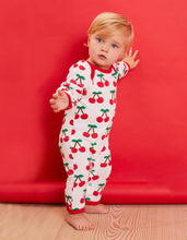 Load image into Gallery viewer, Organic Cherry Print Sleepsuit