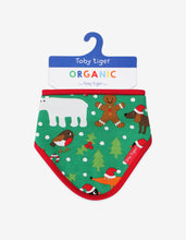 Load image into Gallery viewer, Organic Christmas Print Dribble bib