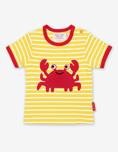 Organic Crab Applique T-Shirt