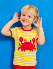 Load image into Gallery viewer, Organic Crab Applique T-Shirt