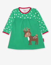 Load image into Gallery viewer, Organic Deer Applique Dress