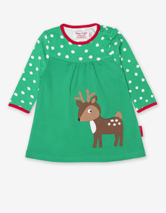 Organic Deer Applique Dress
