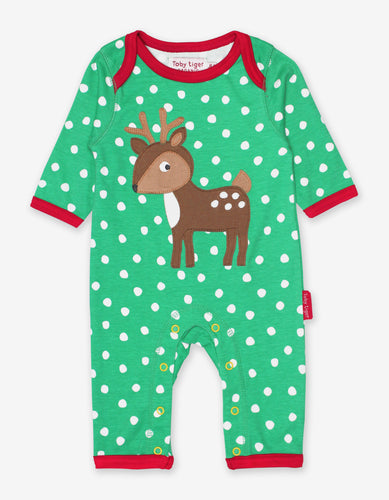 Organic Deer Applique Sleepsuit