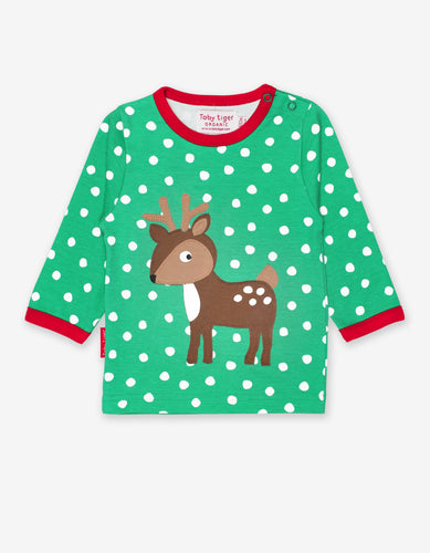 Organic Deer Applique T-Shirt