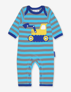 Organic Digger Applique Sleepsuit