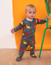 Load image into Gallery viewer, Organic Dinosaur Print Babygrow