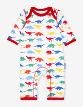 Load image into Gallery viewer, Organic Dinosaur Print Sleepsuit