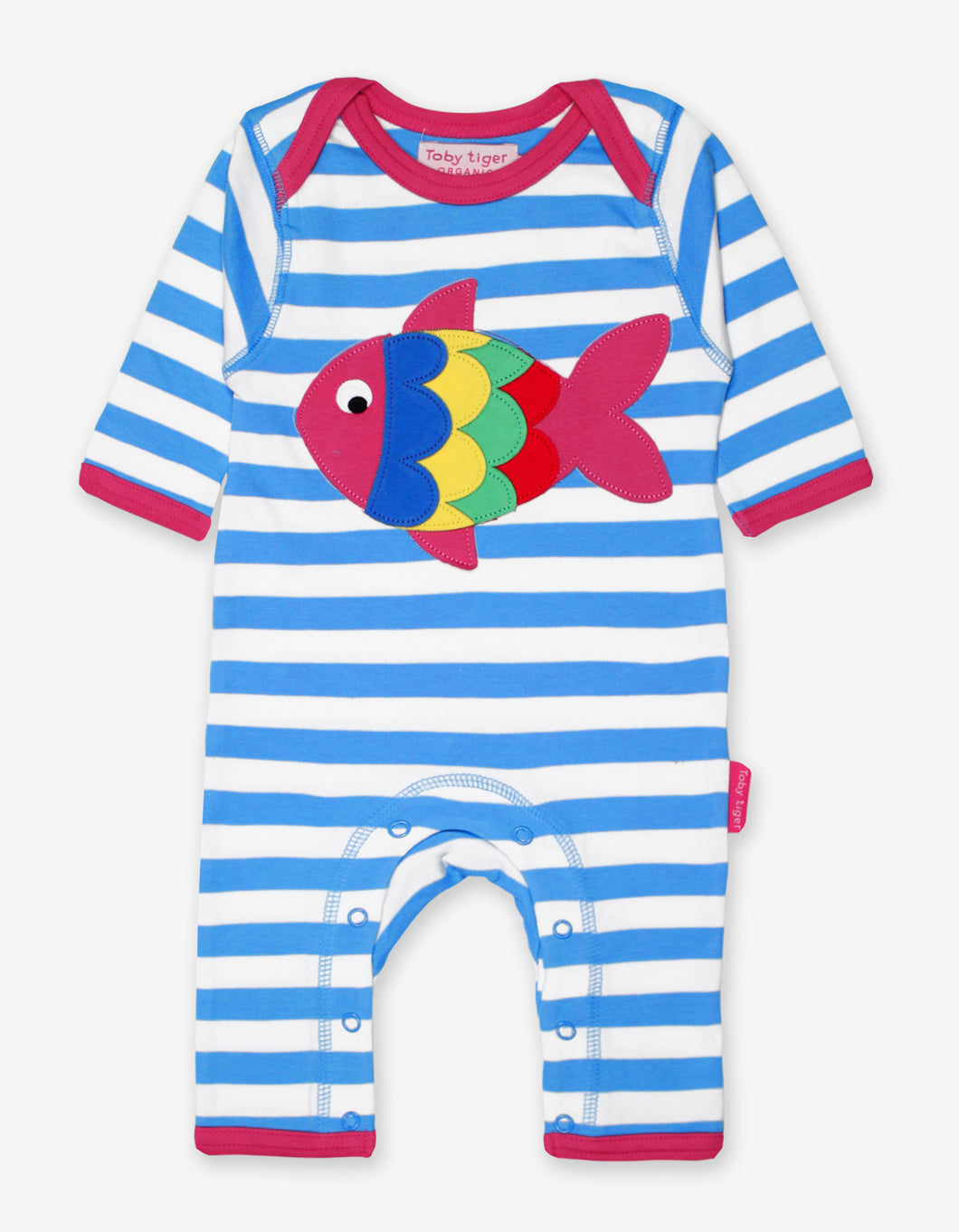 Organic Fish Applique Sleepsuit