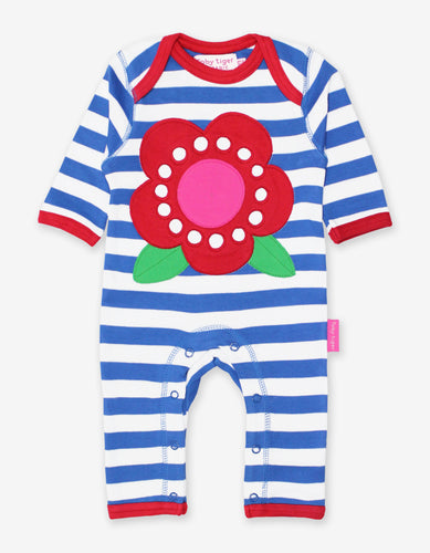 Organic Flower Applique Sleepsuit