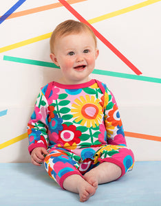 Organic Flower Power Sleepsuit