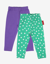 Load image into Gallery viewer, Organic Green Dot Leggings 2-Pack