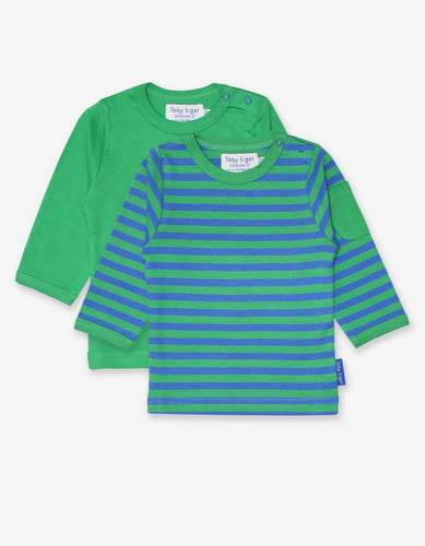 Organic Green Stripe 2-Pack T-Shirt