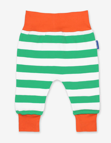 Organic Green Stripe Yoga Pants