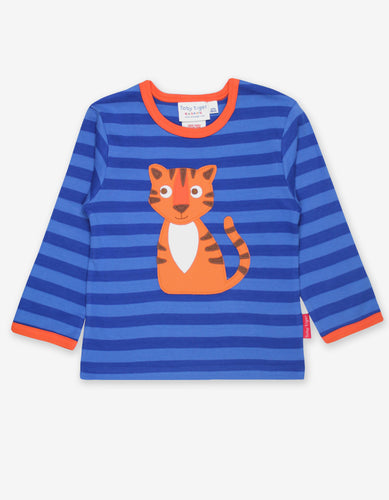 Organic Happy Tiger Applique T-Shirt
