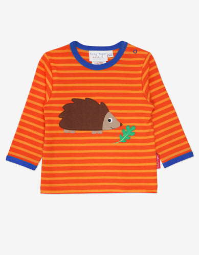 Organic Hedgehog Applique T-Shirt