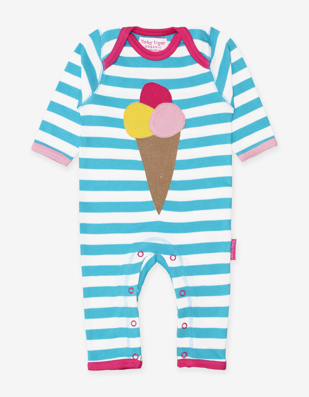 Organic Ice Cream Applique Sleepsuit