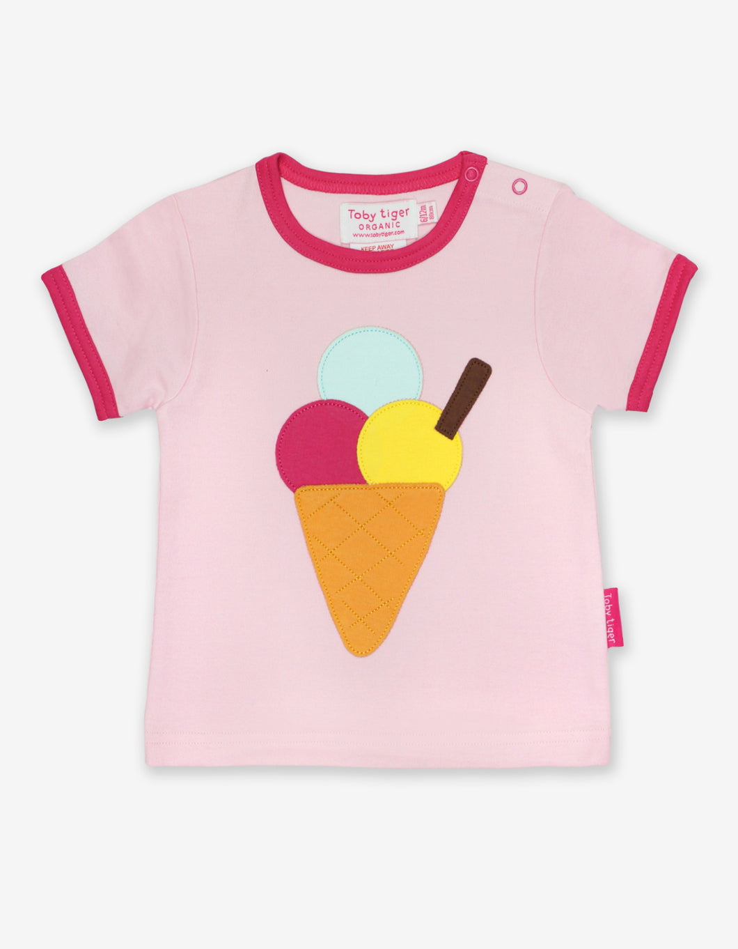 Organic Ice Cream Applique T-Shirt
