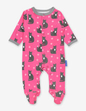 Load image into Gallery viewer, Organic Kitten Print Sleepsuit