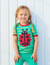 Load image into Gallery viewer, Organic Ladybird Applique T-Shirt