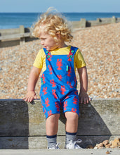 Load image into Gallery viewer, Organic Lobster Print Dungaree Shorts