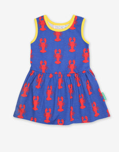 Organic Lobster Print Summer Dress